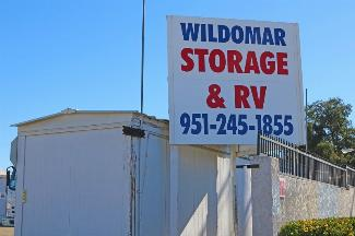storamerica wildomar self storage and RV facility sign